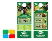 Landscaping door hangers la1022 for 10000 door hangers