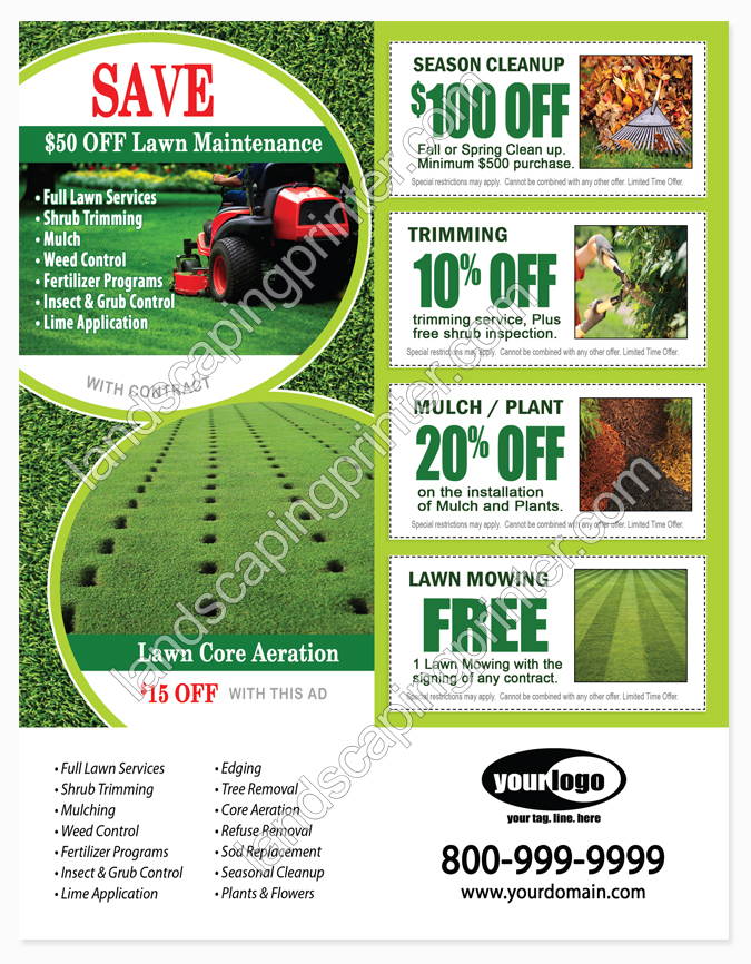 Lawn care flyers grass for Garden maintenance flyers